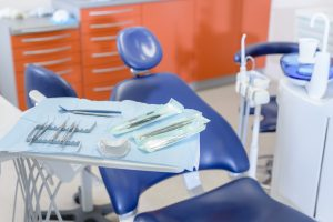 Close-up of dental tool equipment in stomatology clinic