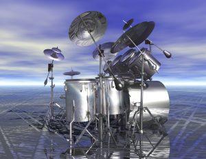 digital rendering of drums
